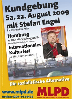 Kommt zum Wahlkampfauftakt mit Stefan Engel nach Hamburg