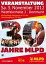 Plakat: Veranstaltung 30 Jahre MLPD