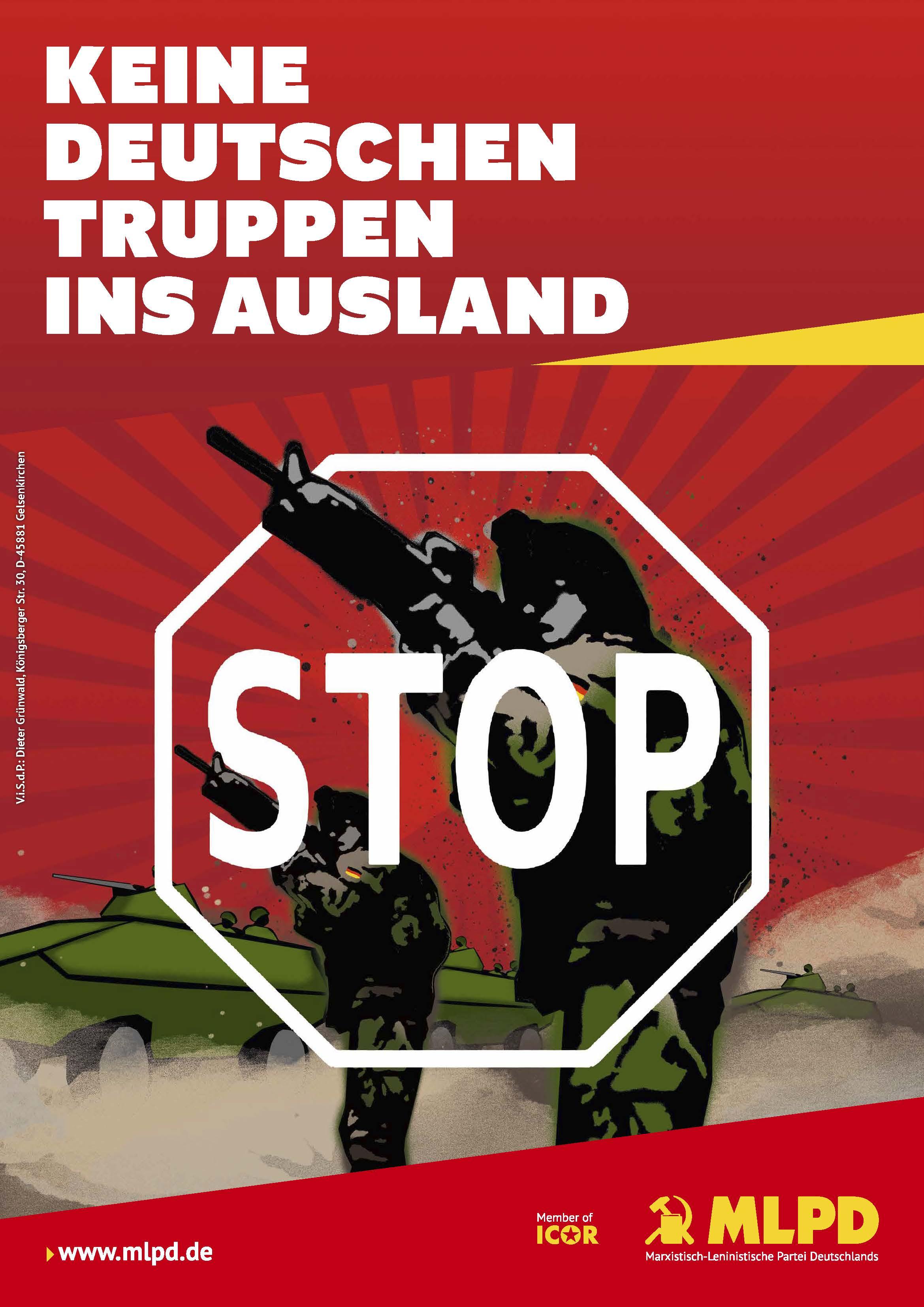Keine deutschen Truppen ins Ausland