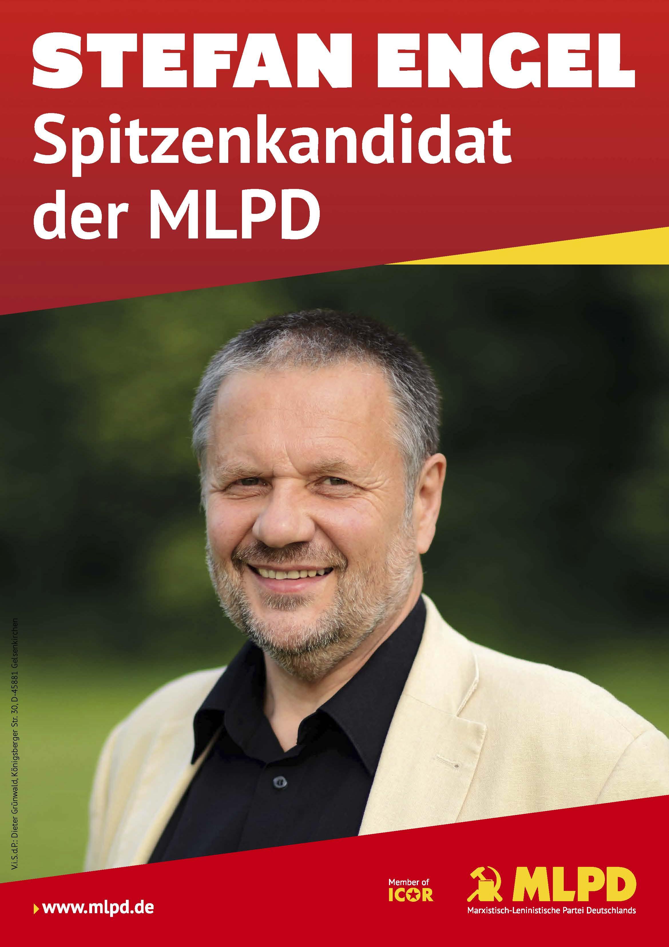 Stefan Engel Spitzenkandidat der MLPD