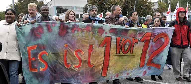 Demo beim Umweltratschlag 2011