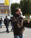 MLPD-Spitzenkandidaten bei Opel in Bochum