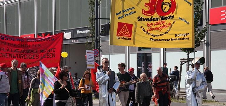 Stahlarbeiter bei bundesweiter Montagsdemo, Berlin 2011