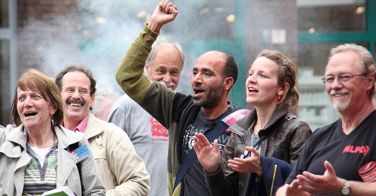 Kundgebung in Gelsenkirchen