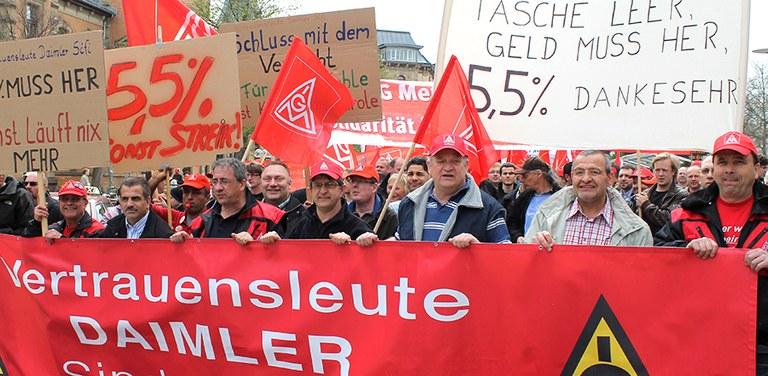 Demo von Daimler-Kollegen