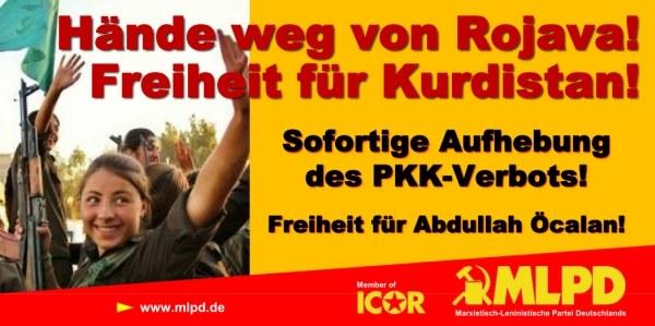 """Neues Transparent: """"Hände weg von Rojava!"""" zum Herunterladen"""