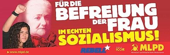 """Neue Plakatvorlagen: """"Befreiung der Frau"""" und """"Verbot aller faschistischen Organisationen"""""""