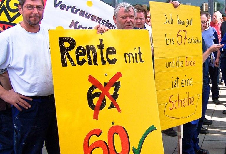 Gegen Rente mit 67