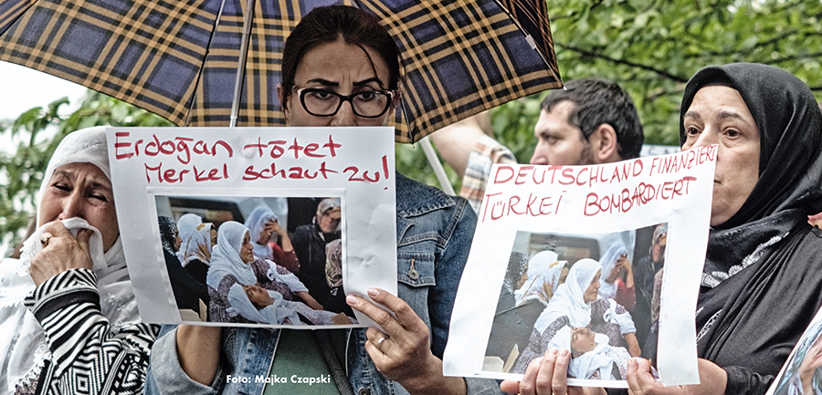 Protest gegen Massaker
