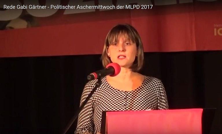 Video: Rede von Gabi Gärtner am Politischen Aschermittwoch der MLPD 2017