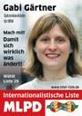 Flyer erschienen: Gabi Gärtner und andere Kandidaten und Unterstützer der Internationalistischen Liste/MLPD