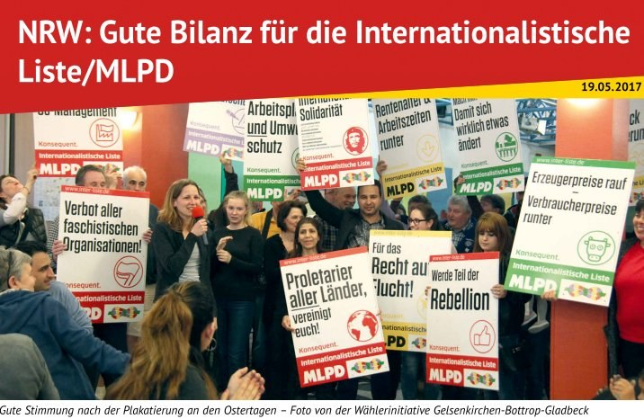 NRW: Gute Bilanz für die Internationalistische  Liste/MLPD