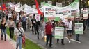 Klare Fronten im Wahlkampf: Internationalistische Liste/MLPD - Mit unserem Slogan 'Protest ist links sind WIR der klare Gegenpol zur AfD und allen nach rechts gerückten Kräften
