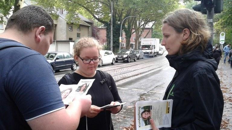 Auf Wahlkampftour in Mecklenburg-Vorpommern