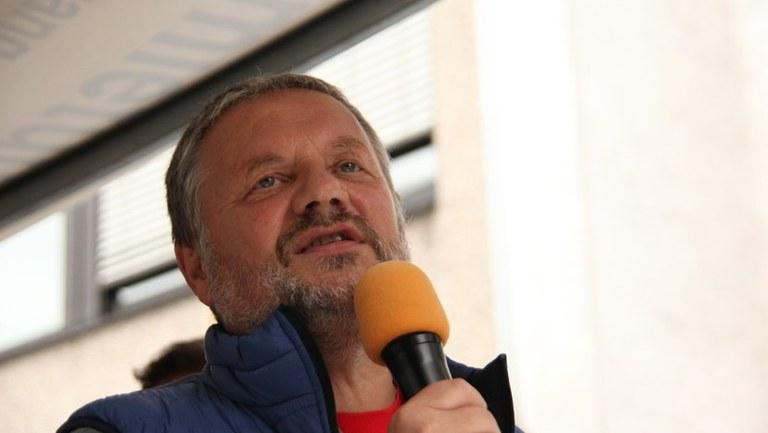 Auf Wahlkampftour mit Stefan Engel