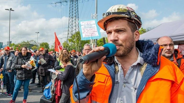 Thyssen-Krupp, Duisburg: Kundgebung der Internationalistischen Liste/MLPD