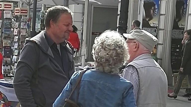 Überzeugender Wahlkampf mit Stefan Engel und Ilka May in Jena