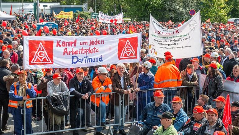 Stahlaktionstag in Bochum am 22.9.2017 - Kein Diktat von Polizei und BKA bei Arbeiterprotesten!