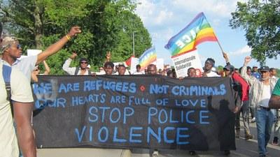 Strafbefehl gegen Alassa M. wegen angeblich unerlaubter Einreise und Widerstands gegen Vollstreckungsbeamte