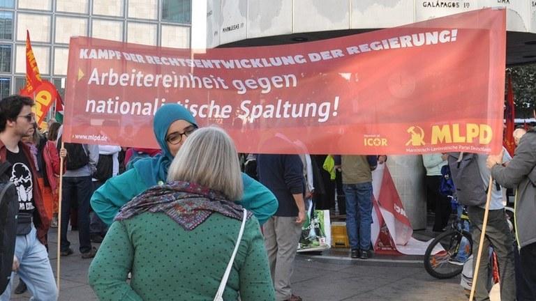 Erfolgreicher Protest gegen Faschist Höcke - klare Kante setzt sich durch