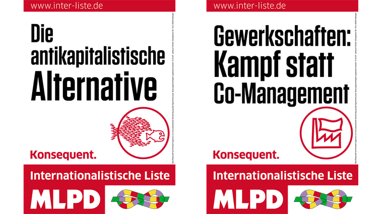 Plakate der Internationalistischen Liste