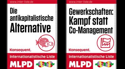 Plakate der Internationalistischen Liste