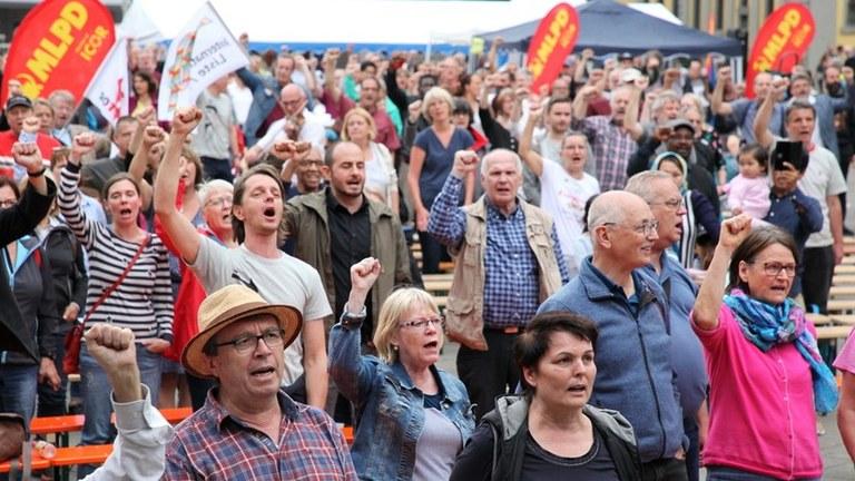 MLPD protestiert gegen drastische Einschränkung des Rechts auf freie Wahlen