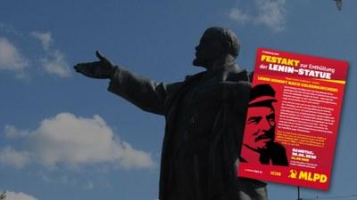 Enthüllung der Lenin-Statue in Gelsenkirchen