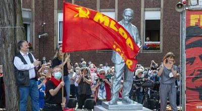"""Lenin ist in Gelsenkirchen:  """"Heute haben wir ein deutliches Signal gegen den Antikommunismus gesetzt!"""""""