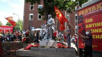 24.844,72 Euro gesammelt: Lenin-Statue in Gelsenkirchen komplett durch Spenden finanziert