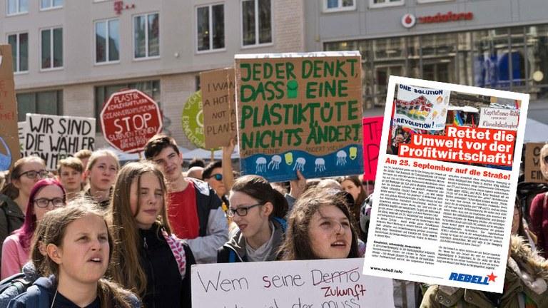 Rettet die Umwelt vor der Profitwirtschaft! Am 25. September auf die Straße!