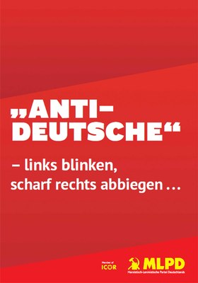 """Antideutsche"" – links blinken, scharf rechts abbiegen ..."