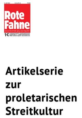 Artikelserie zur proletarischen Streitkultur