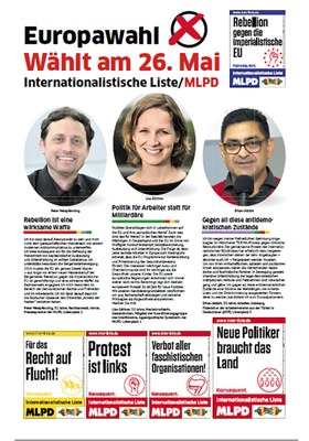 Wählt am 26. Mai Internationalistische Liste/MLPD
