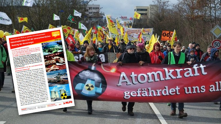 Katastrophenalarm bei der unverantwortlichen Nutzung der Atomenergie