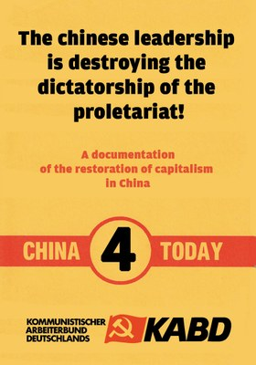 The chinese leadership is destroying the dictatorship of the proletariat!