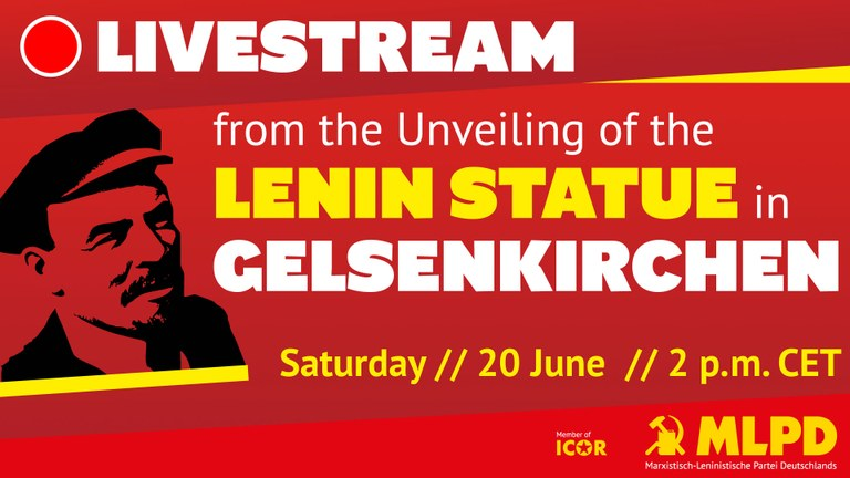 Unveiling of the Lenin Statue in Gelsenkirchen