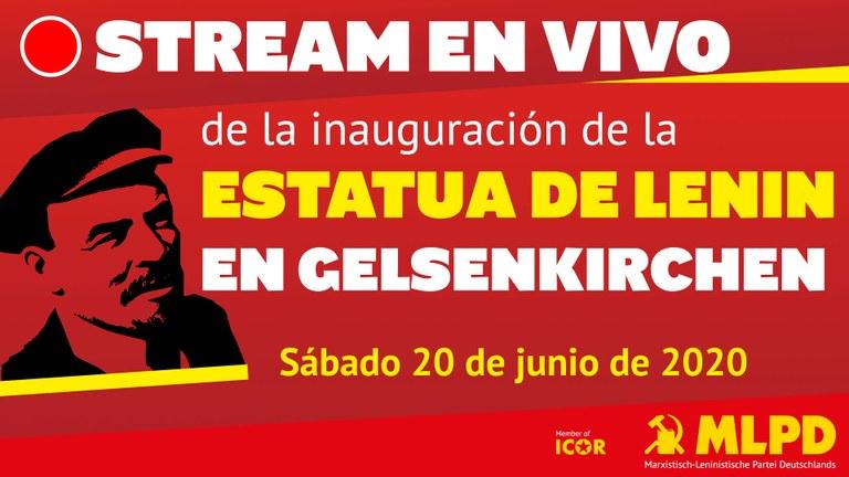 Stream en Vivo de la inauguración de la Estatua de Lenin