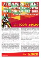 Efrîn wird leben! Weltweiter Aktionstag der ICOR am 21.3.2018