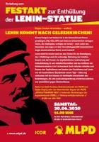 Samstag, 20.06., 14 Uhr: Festakt zur Enthüllung der Lenin-Statue