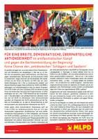 """Für eine breite, demokratische, überparteiliche Aktionseinheit im antifaschistischen Kampf und gegen die Rechtsentwicklung der Regierung! Keine Chance den """"antideutschen"""" Schlägern und Spaltern!"""