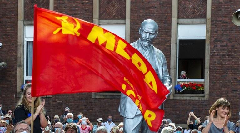 """Lénine est arrivé à Gelsenkirchen :  """"Aujourd'hui, nous avons envoyé un signal clair contre l'anticommunisme !"""