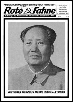 Rote Fahne zum Tod von Mao Zedong