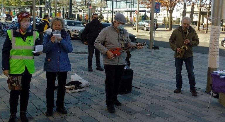 Umweltkampftag am 14.11.2020 in Böblingen: Kämpferische Kundgebung trotz absurder Schikanen der Stadtverwaltung