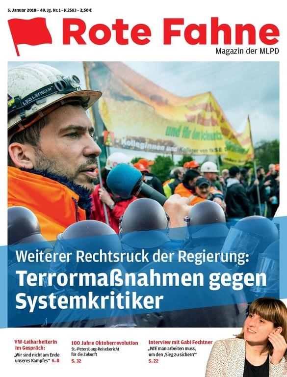 Rote Fahne Magazin 01/2018