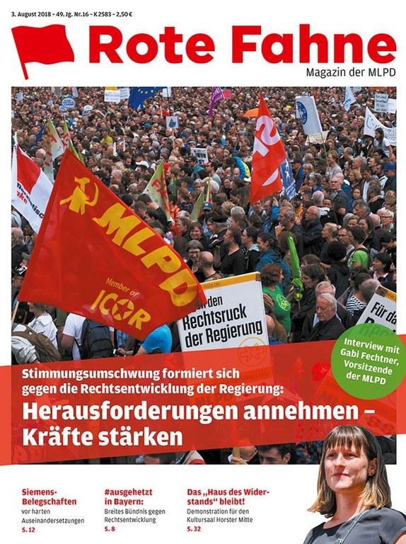 Rote Fahne Magazin 16/2018