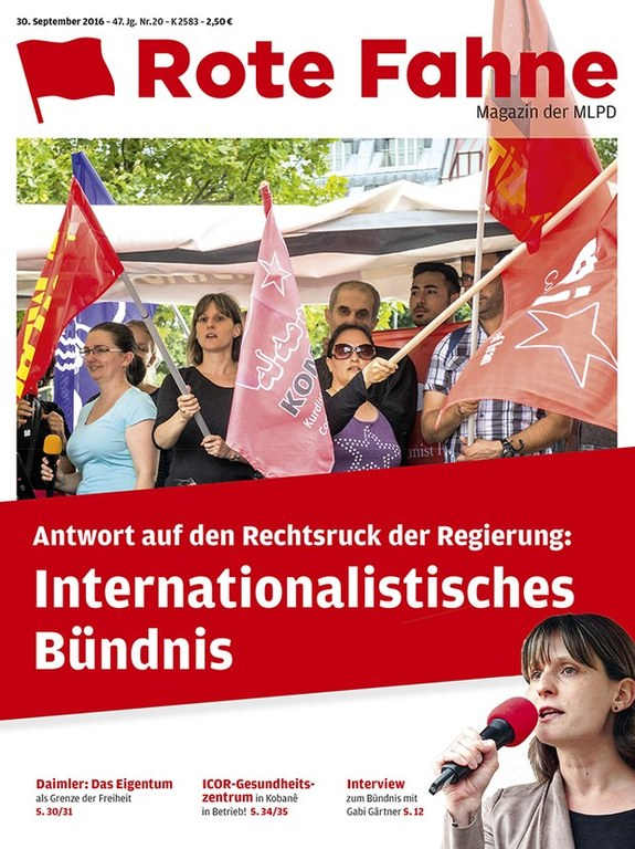 Rote Fahne Magazin 20/2016