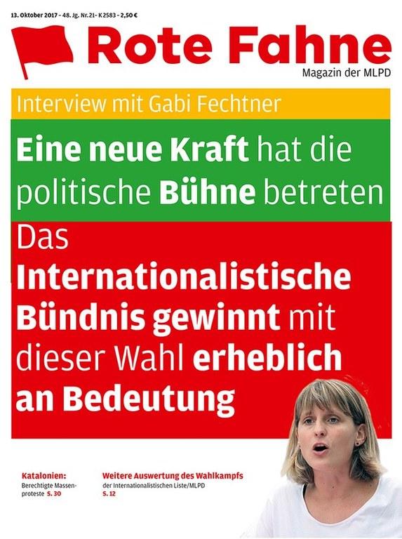Rote Fahne Magazin 21/2017