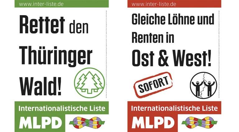 Thürigen Landtagswahl Plakate