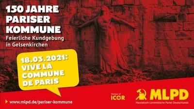 Feierliche Kundgebung zum 150. Jahrestag der Pariser Kommune